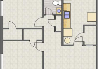 Floorplan: 2 Bedrooms, 1 Bath of Columns Apartments in Auburn, AL