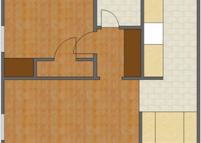 Bradford Floor Plan: 1 Bedroom, 1 Bath